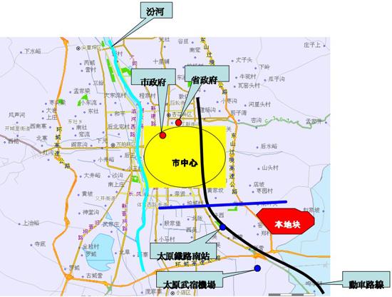 太原龙城半岛地图