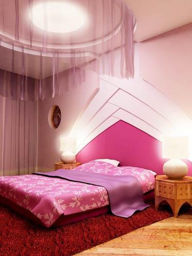 女生最爱的浪漫卧室装饰效果图